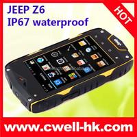 2015 New Arrival Original China Brand Jeep Best Rugged Phone 3G CDMA WCDMA Rugged IP67 Waterproof Dual SIM Mobile Phone
