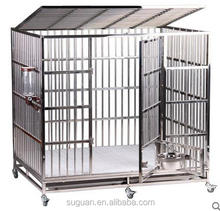 Steel dog cage trolley/Dog Large Animal Cages
