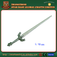 Hot selling decorative 18 cm metal swords craft