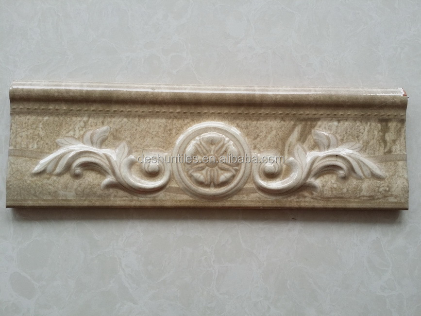 decorative skirting Embossing Listello border tiles
