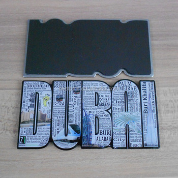 hotsale mEtal fridge magnet with printed logo DUBAI