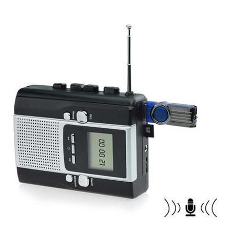 USB Cassette Capture Recorder Radio Player, Tape to PC Super Portable USB Cassette to MP3 Converter