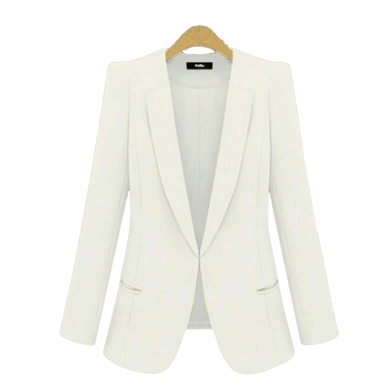 White Fashon Suit Jacket for Lady Office Casual Fashion Slim Woman Suits
