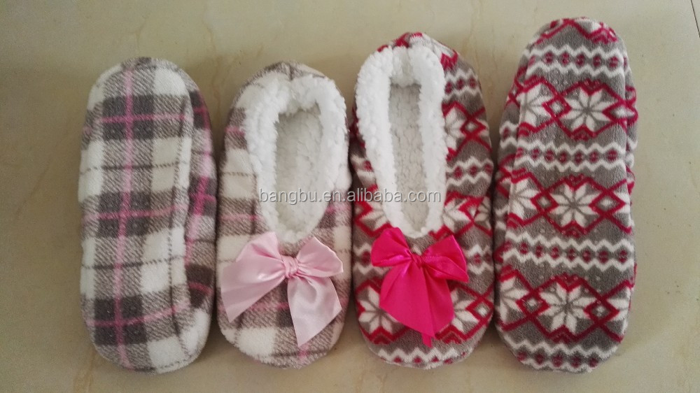 softy foldable micro-fleece dance slipper fleece slipper