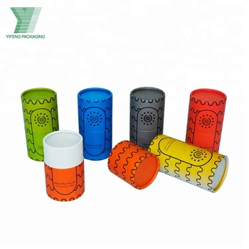 Luxury custom colorful round tube candle packaging boxes