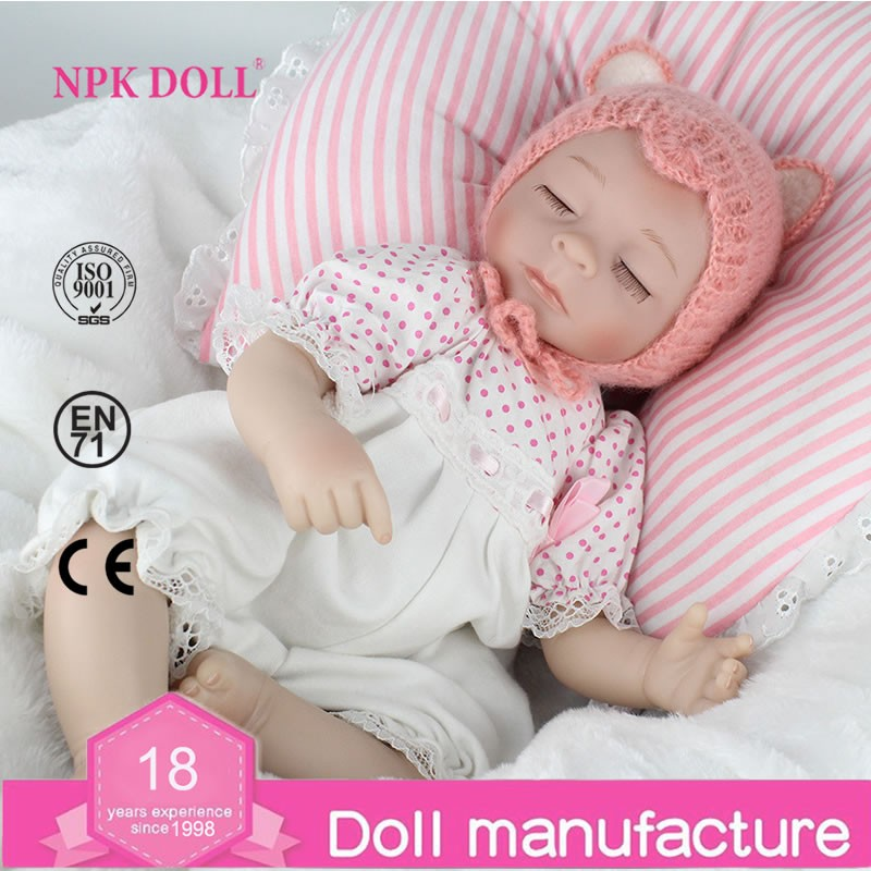 16 inch Reborn Baby Doll Soft Silicon sleeping hand drawing Realistic Newborn Babies