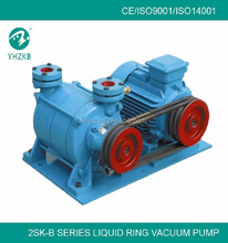 Double stage liquid ring vacuum pump for medical package
