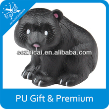 Promotional gifts for teenagers pu black bear stress ball foam soft squishy relax ball kids funny hand toys