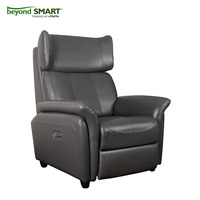 Home button and usb charging dual power switch leather recliner