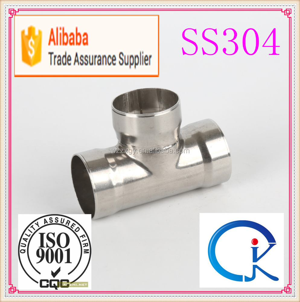 Stainless steel pipe fitting socket weld pipe tee joints