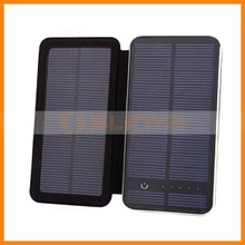 10000mAh Phone Mobile Solar Panel Travel Hiking Charger Battery Dual USB External Power Bank for iPhone 6