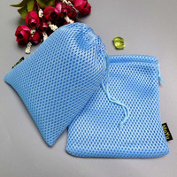 Durable mesh golf balls bag with drawstring /small drawstring mesh bag/ustomized size mesh bags with string