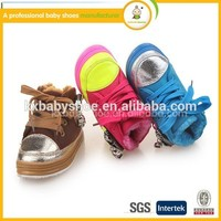 Latest new style wholesale high quality pu winter warm kids fashion high heel sports shoes