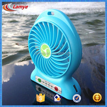 Factory Wholesale rechargeable portable stand fan with led light