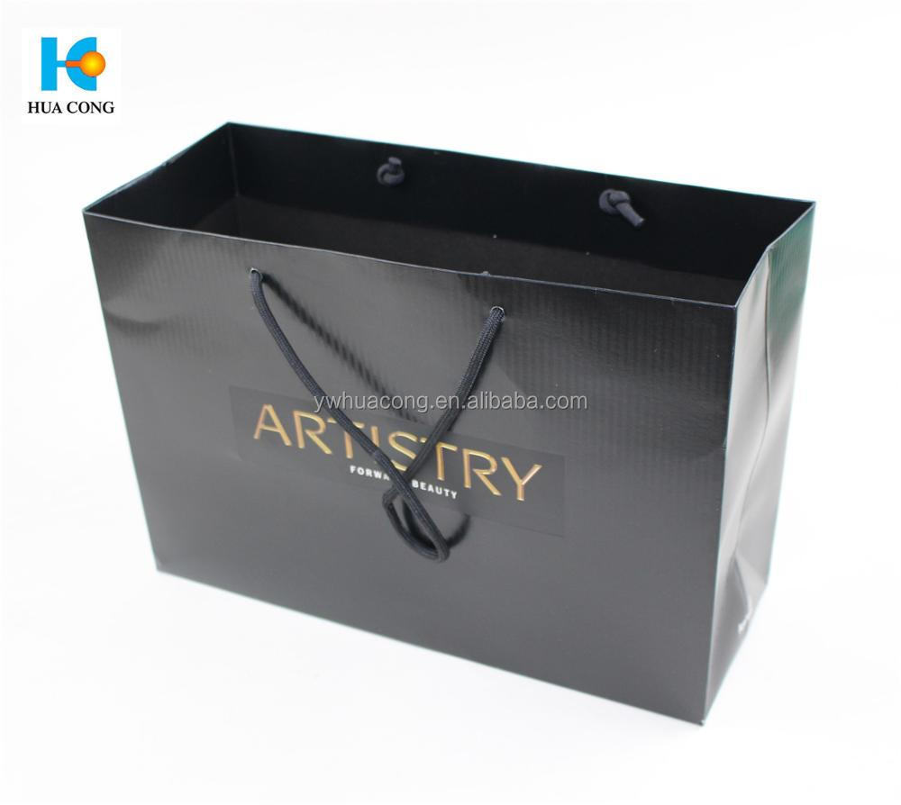 custom printed paper shopping bag with handle supplier
