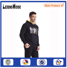 Fashion christmas winter wool knitted jacquard hot selling custom velour hoodie men