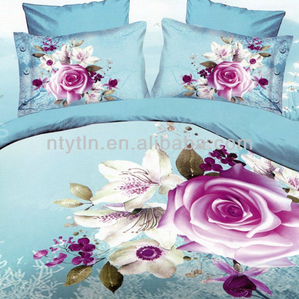 100% polyester 3D disperse printed bedding set