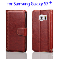 Flip Leather Phone Cases for Samsung Galaxy S7 Plus Mobile Phone Cover