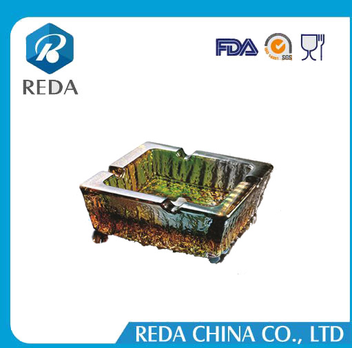 2017 Amazon Supplier Factory Wholesale Personalized Colored Square Customize Cigar Glass Ashtray