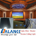 Modern Optic Fiber Theatre Rooms Ceiling With 45W LED Light Engine , 1.0mm End Light Optic Fiber