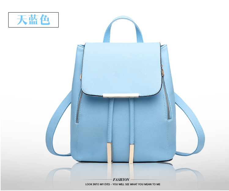 2016 Hot Sell Fashional PU Lady Backpack School Backpack