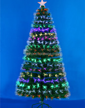 6FT Natural Looking Color Changing Artifical Fiber Optic Christmas Tree With Top Star
