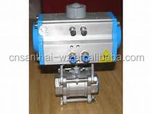 ss316 3pc clamp pneumatic ball valve actuator with solenoid valve