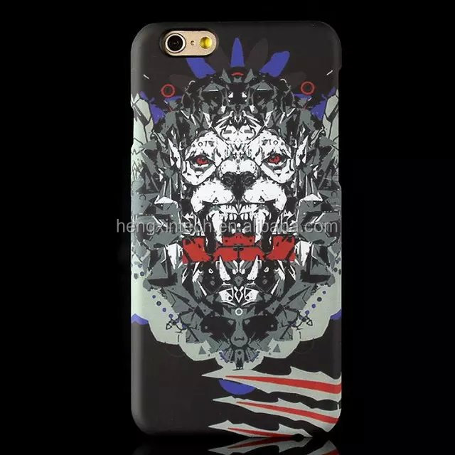 Hot New Geometric Printed Horrible Tiger Animal Series Hard PC Case Cover for iPhone6s/6s plus/6/6plus