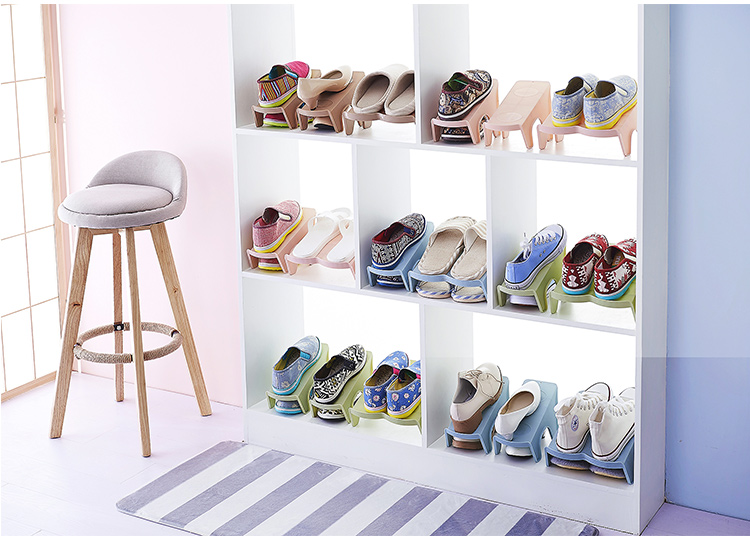 Durable Plastic Shoe Racks Modern Double Cleaning Storage Shoes Rack Living Room Convenient Shoesbox Shoes Organizer Stand Shelf
