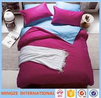 Solid color bedding sets 3D reactive printed Soft and comfortable in 100% cotton