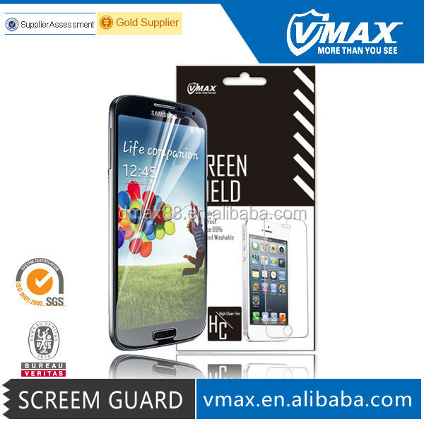For Gold Supplier HD Clear Matte Waterproof Cell Phone / Mobile Phone LCD Monitor PET Samsung Galaxy s4 screen protector