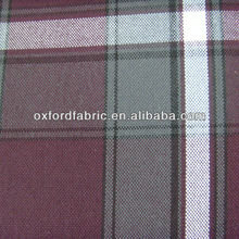16s yan dyed check spun polyester fabric for bag&wheelchair