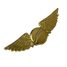 2018 free sample factory wholesale custom metal pilot wings pin badge