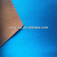 Embossed and change color pu leather for shoe making