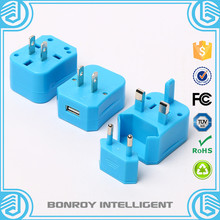 1 USB port world travel factory power charge universal travel adapter with US EU UK AU plugs