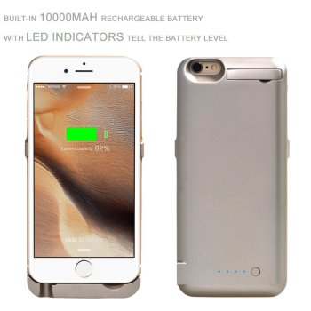 Hot Selling 10000mAH Power Bank Charger Wallet Battery Cover Case for iPhone 6, for iPhone 6 Backup Battery Case