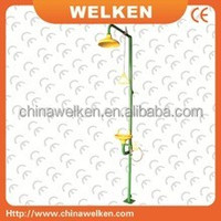 WELKEN Economical Combination eye wash & shower BD-520A safety emergency eyewash station Galvannized eyewash equipment