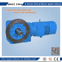 High speed K series 1:40 ratio helical bevel gear box for Chemical inducstry