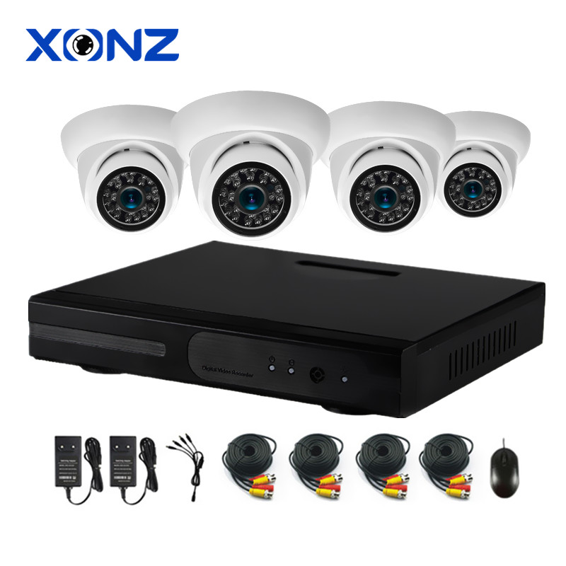 ahd cctv camera 4 ch 1080p ahd dvr kits , 4ch cctv dvr kit streetlight surveillence camera