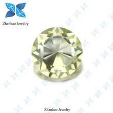 High Quality Machine Cut BY98 Light Green Color 0.8mm-18mm Crystal Glass Diamond Stone