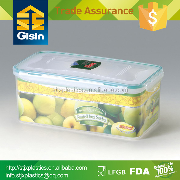 easy to open and lock food container with lid