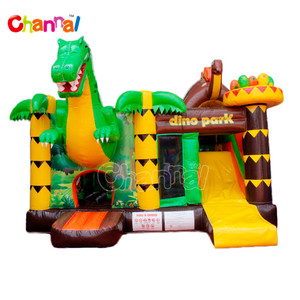 dino park inflatable bouncer combo, animal inflatable jumping bouncy castle