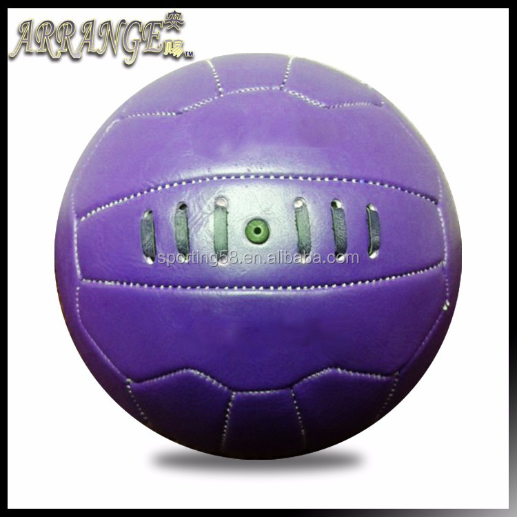 customize soccer ball ACFB0101E2120 Purple color PU archaize leather gift Synthetic Rubber bladder football