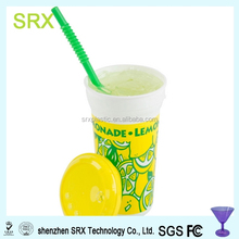 custom oem 32 oz. Tall Plastic Souvenir Cold Cup with Straw and Lid manufacturer