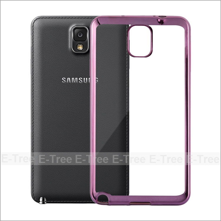 Fresh High Quality Chrome Electroplate Silicon Tpu Shockproof Case Cover For Samsung Note 3