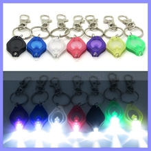 Spring Button Belt Hook Waterproof Micro LED Mini Alloy Chain Decorate Flashlight