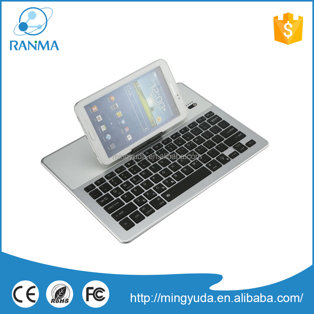 Portable wireless aluminium case with bluetooth keyboard