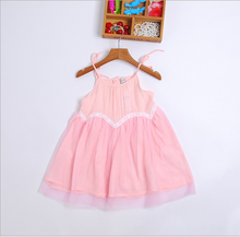 C51070A Cotton Girl 2017 Baby Dress Pictures Cutting New Style Designs Girls Modern Child Summer Dress For Baby