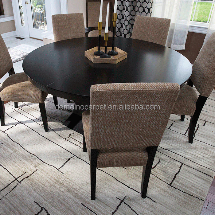 dining room decor light brown rug black white rugs