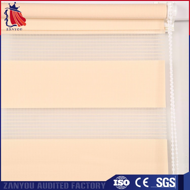 ZY fasion design zebra shades double sided roller blinds